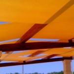Realizzazione di teli di copertura per struttura gazebo presso masseria storica.