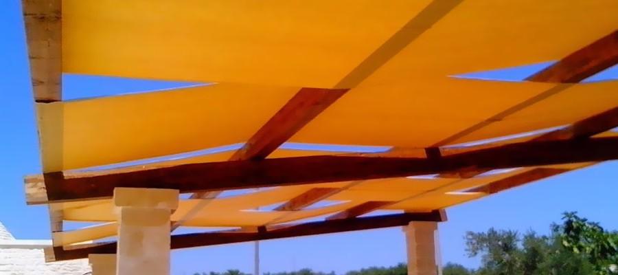 Linea ombra tende e coperture teli per copertura gazebo for Teli per laghetti pvc